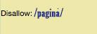 desabilitar rastreio de páginas
